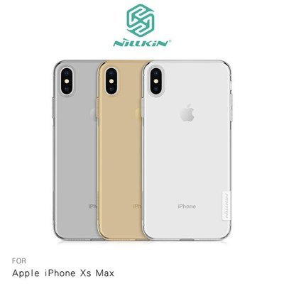 NILLKIN Apple iPhone Xs Max 本色TPU軟套 減震防刮 超強柔韌