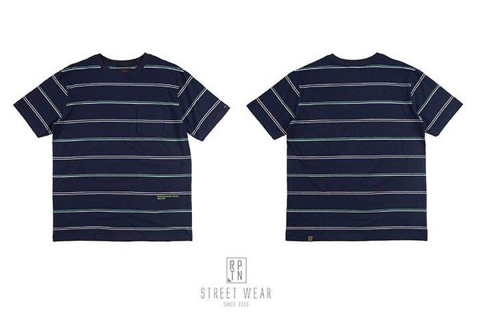 REPUTATION Stripes Embroidery / D - TEE.SS - 橫條刺繡TEE