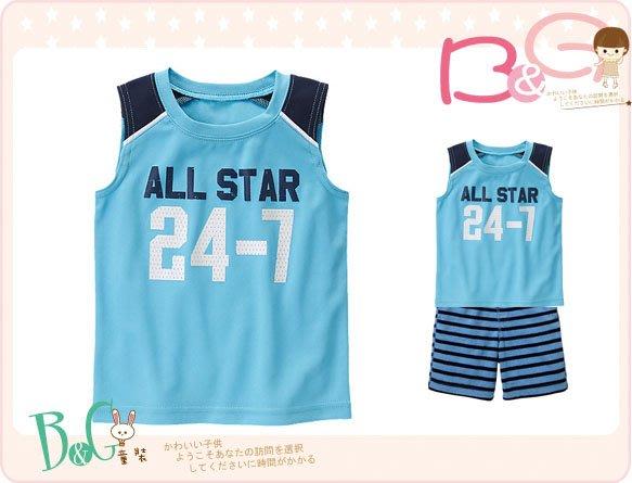 【B& G童裝】正品美國進口GYMBOREE All-Star Active 藍色排汗背心上衣18-24m,2,3yrs