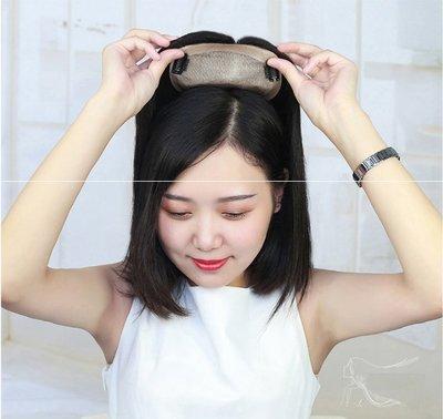 補髮片 頭頂 假髮片 全真髮-增髮量 遮白髮 髮際線 遞針工藝 可自由分線 (7×10 25公分) 【不然飾】OAA1