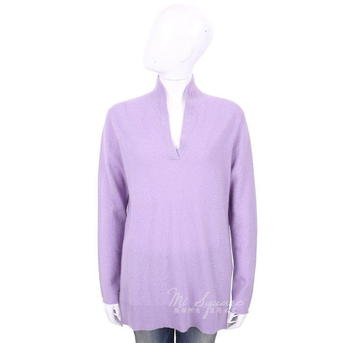 米蘭廣場 ALLUDE 100%喀什米爾淺紫色立領針織羊毛衫 1740223-78