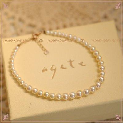 【最愛輕珠寶】日本agete輕珠寶專櫃正貨 特A等級珍珠手環 超美絕版