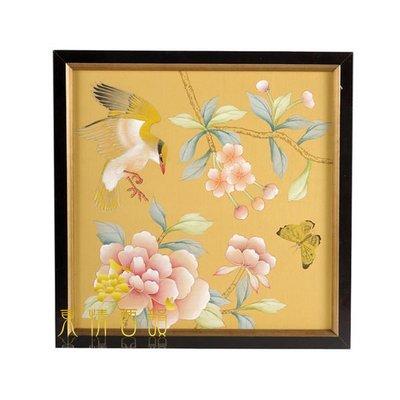 【芮洛蔓 La Romance】東情西韻系列手繪絹絲畫飾 CHB-004