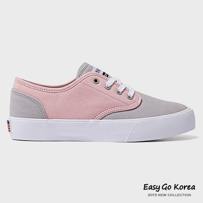 【Easy GO 韓國潮牌代購】前女友俱樂部 宋智孝 - SKONO 時尚簡約糖果拼色綁帶帆布鞋