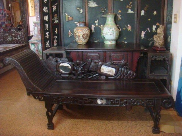 早期實木酸枝鐵力木貴妃椅躺椅休閒椅178x52x46(座高)cm