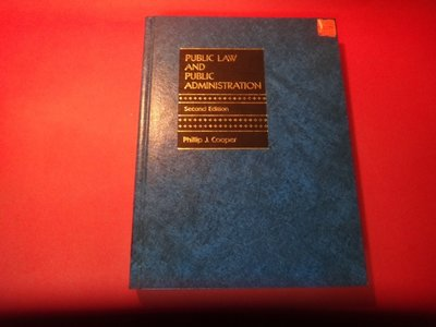 【愛悅二手書坊 21-13】Public Law and Public Administration