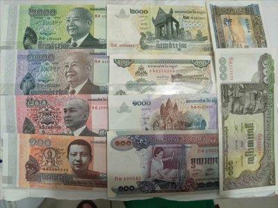 柬埔寨新版流通鈔=未使用過往流通鈔=無折痕一次13張