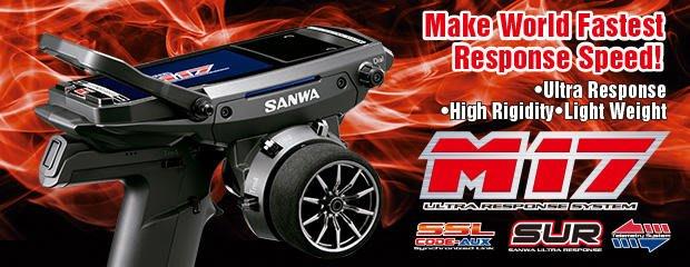 **RC 小舖**SANWA M17 遙控器 彩色液晶 雙接收版(首批送遙控袋+保護貼)