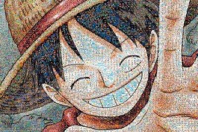 日本進口拼圖專賣店_ 1000片 海賊王 航海王 ONE PIECE 草帽小子魯夫 馬賽克效果 1000-583