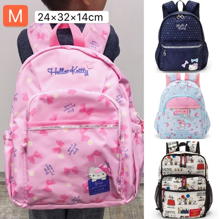 Baby Sheep 日本Sanrio 三麗鷗正版 新款後背包 兒童後背包 M號背包 上學書包 旅行背包 史奴比凱蒂美樂