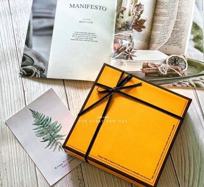 AM好時光【M273】愛馬仕風 黃橘色禮品包裝盒❤中秋節月餅盒 鳳梨酥馬德蓮牛軋糖餅乾包裝盒 手工皂盒 彌月喜餅回謝禮盒