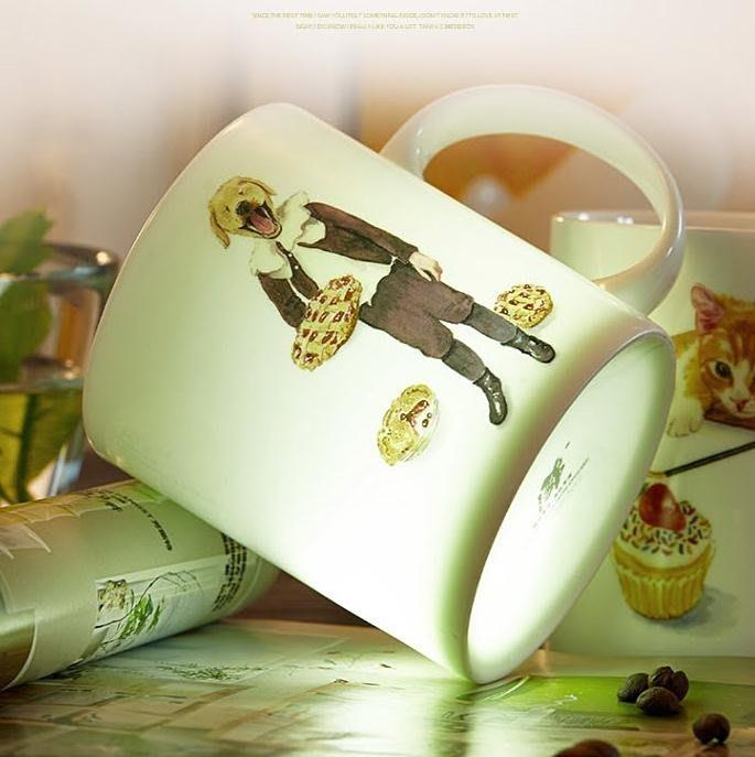 唐山骨瓷馬克杯咖啡牛奶陶瓷杯子創意情侶早餐辦公室陶瓷喝水杯