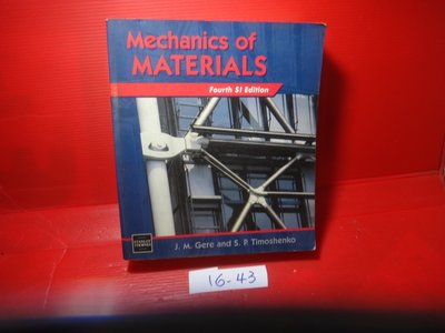 【愛悅二手書坊 16-43】Mechanics of Materials