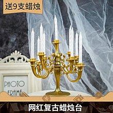 【berry_lin107營業中】ins網紅生日蛋糕裝飾復古歐式小蠟燭臺擺件烘焙甜品臺蠟燭插件