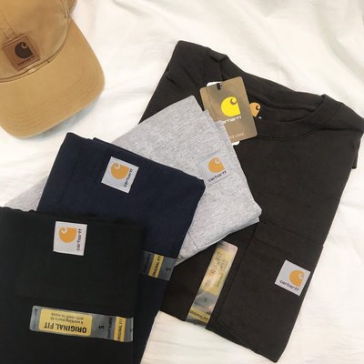 KH.S⚡️Carhartt Work Pocket Tee 素面 美版 口袋 工作TEE 黑 灰 深藍 咖啡 沙色