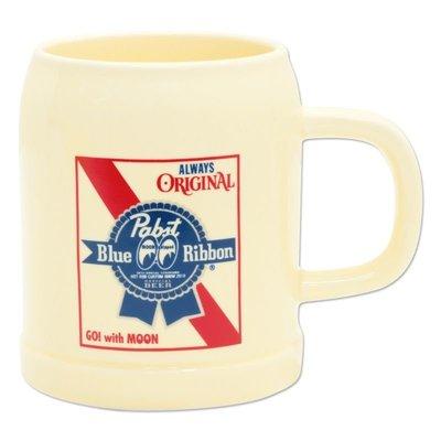 (I LOVE樂多)Pabst Blue Ribbon x MOONEYES啤酒杯 [ PBRB004 ]