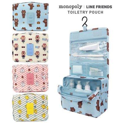 洋碼頭 韓國LINE FRIEND可妮兔旅行防水大容量收納包懸掛洗漱包化妝包 IDEA-159