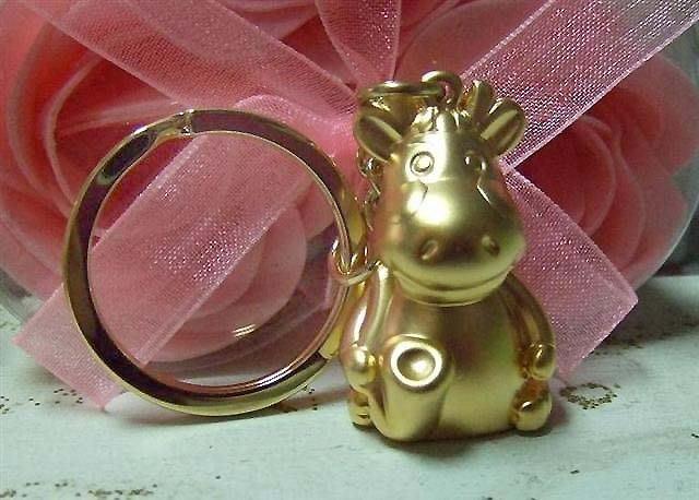 ☆創意小物店☆ 薩斯風金福牛 鑰匙扣/創意可愛金屬鑰匙圈 時尚造型個性飾品
