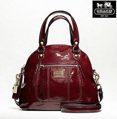 【美國精品館】COACH 18718 Poppy Patent Leather Foldover Crossbody Bag (寶紅) 手提/斜背包~4880