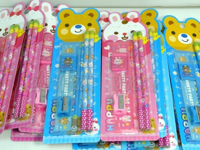 寶貝玩具屋二館☆【文具】適合送禮---可愛小動物韓版文具5件組(單色價)