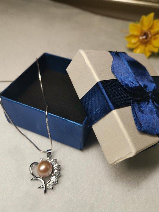 珍珠項鍊含禮盒 情人節 生日禮物