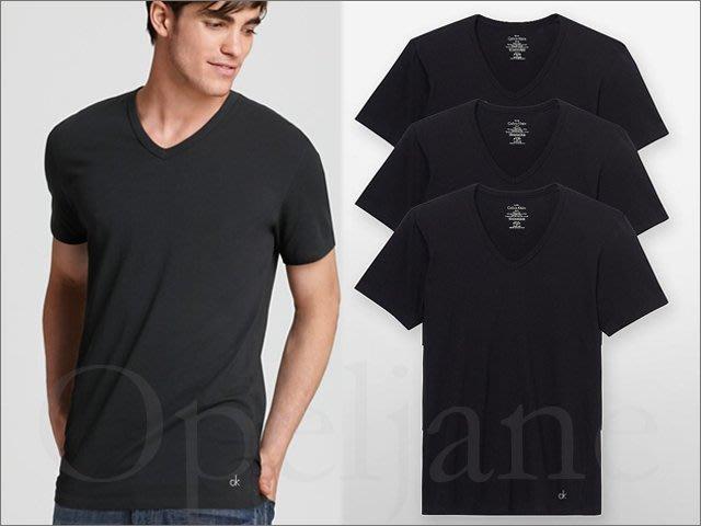 Calvin Klein CK卡文克萊V領棉短袖短T內穿外穿皆可黑色三件一組 S M L XL號 愛COACH包包