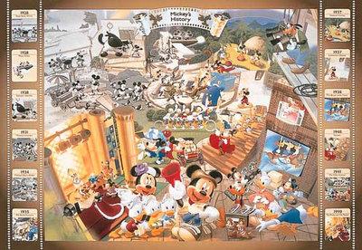 日本正版拼圖 迪士尼 米奇 電影 1000片絕版拼圖,1000-158