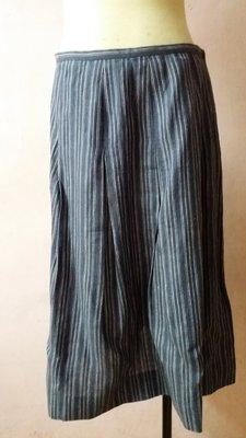 agnes.b 棉麻直條紋裙