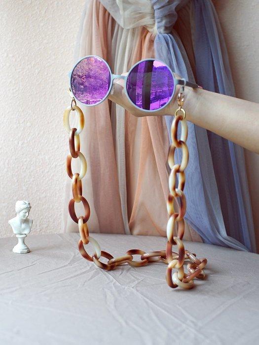 淘淘樂-凹造型洛麗塔眼鏡鏈女掛脖裝飾鏈子復古墨鏡防掉繩網紅時髦雙用款