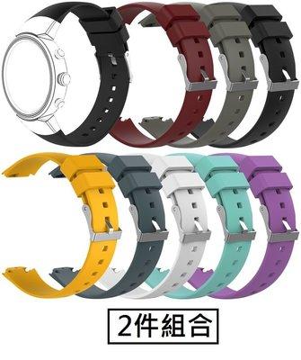 【現貨】ANCASE 2件組合 ASUS ZenWatch3 錶帶軟膠矽膠錶帶