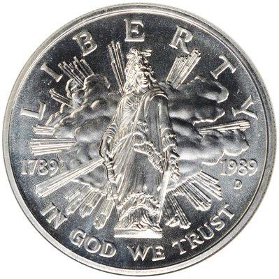 [免運] 美國1989 國會成立200週年紀念銀幣 1元 銀幣 收藏