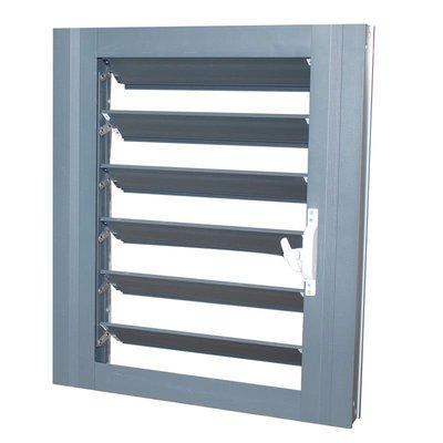 (品質好)鋁合金防雨百葉 可調節室外防水百葉窗可關閉 外墻百葉通風口電動{粉小甜T店鋪)