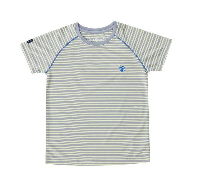 荒野 WILDLAND 男 兒童涼感紗抗UV條紋圓領排汗衣 吸濕快乾 UPF30 抗紫外線 防曬透氣快乾 0A51688