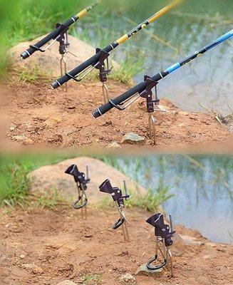 手竿/海竿兩用萬向支架 送筏竿支架釣魚必備神器。