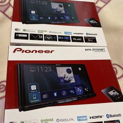 現貨 先鋒9250 Pioneer AVH-Z9250BT 蘋果 WiFi無線 Carplay 雙USB 2DIN