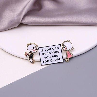 熱銷款心動~男孩女孩情侶款胸針可愛日系卡通徽章ins潮個性胸章配飾品