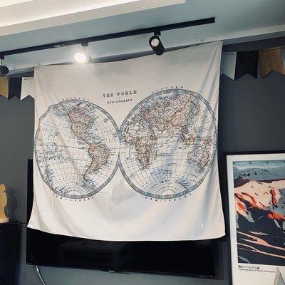 【AMAS】-北歐風格世界地圖掛毯掛布裝飾布wall hanging背景布臥室寢室