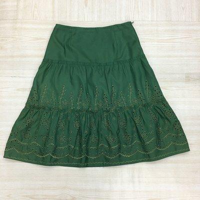 【愛莎&嵐】eu  EUNICE 女 綠色及膝裙 / 38 1060629