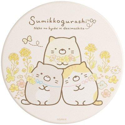 Sumikko Gurashi角落生物 貓咪 吸水杯墊 遇見貓兄弟姐妹 San-X Japan 日本
