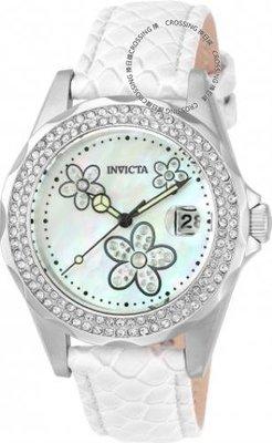展示品 Invicta 23550 Angel Quartz Crystal Accents Mother of Pearl White Women'