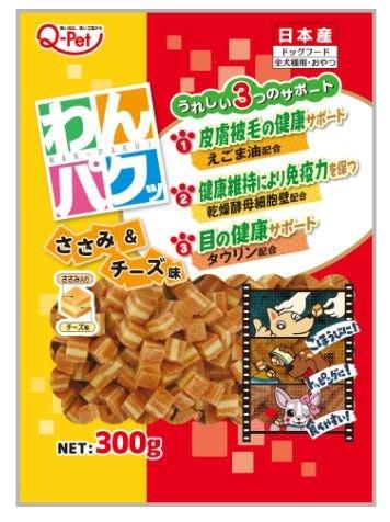 貝果貝果 日本 Q-Pet 口福起司雞肉角  300g  [S1440]