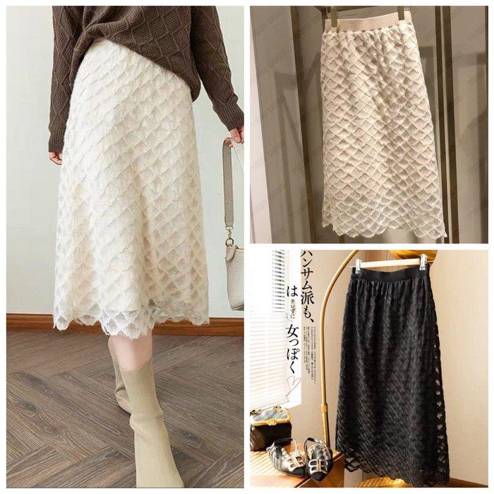 【2A Two】兩面穿〰️魚鱗軟蕾絲內層針織裙『BB00504』
