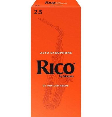 ☆唐尼樂器︵☆美國 RICO Alto 中音薩克斯風竹片 2號/2.5號/3號/3.5號 (25片/盒)【橘包裝】