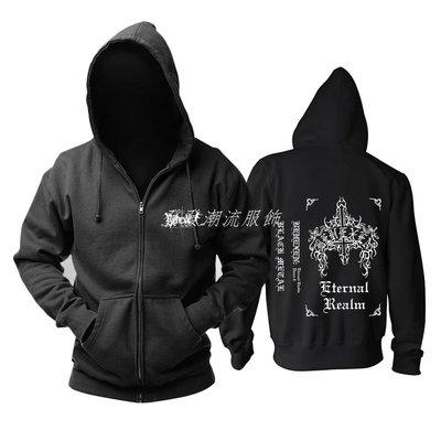發發潮流服飾新品芬蘭behexen黑金屬Eternal Realm專輯封面流行音樂紀念衛衣