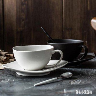 歐式簡約咖啡杯陶瓷咖啡杯情侶杯創意意式咖啡杯異形咖啡杯套裝 qz3495【甜心小妮童裝】