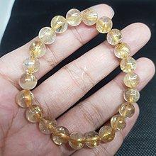 天然水晶 平價 鈦晶手珠 編號62 20.3克 8.4咪