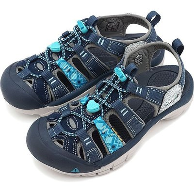 =CodE= KEEN NEWPORT EVO H2 SANDALS 彈性綁繩護趾防水包頭涼鞋(藍灰)1016483 女