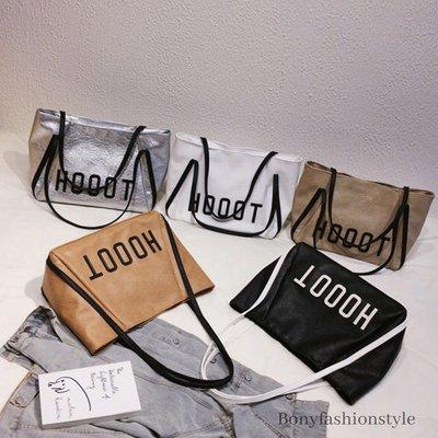 韓版時尚字母休閒購物大包