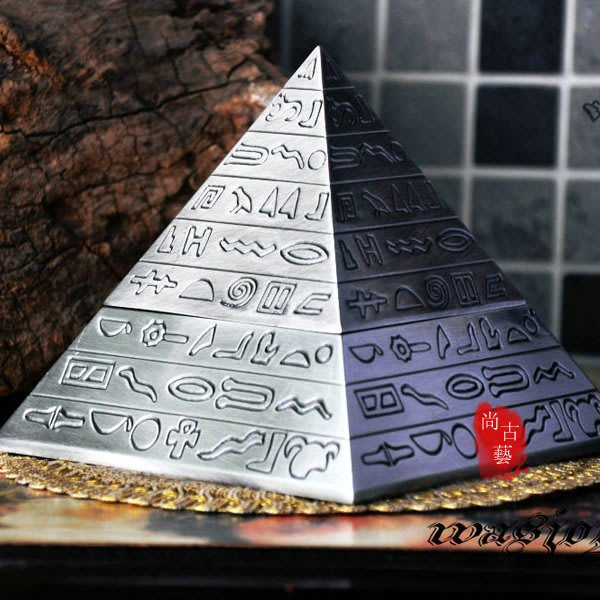 【尚古藝】經典復古雕刻 金字塔男士煙灰缸  創意裝飾煙灰缸