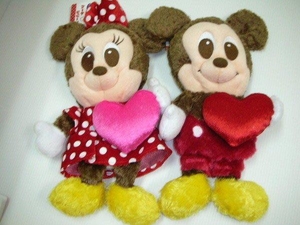 *凱西小舖*日本進口正版迪士尼米奇/米妮玩偶造型萬用收納袋/筆袋